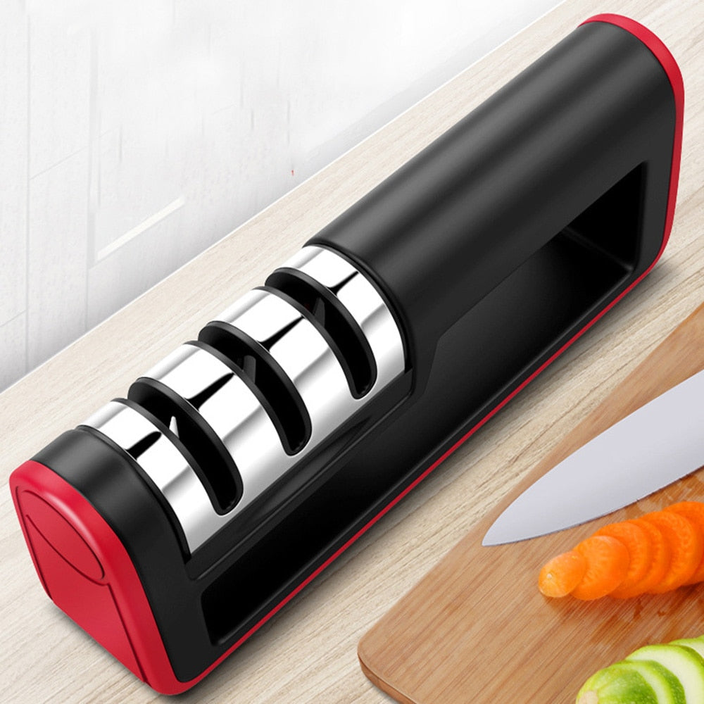 Professional Kitchen Knife Sharpener 3 Stages Diamond Ceramic Knife Sharpener Chef Knife Sharpening Tool