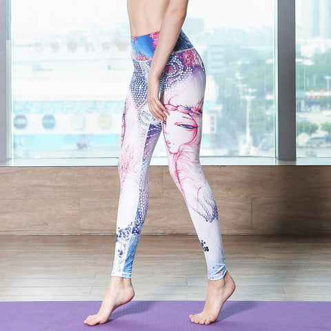 Printed Yoga High-elastic Quick-drying Sports Fitness Leggings