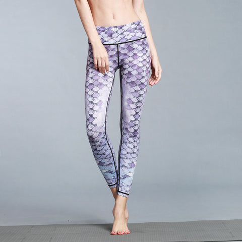 Printed Yoga Outdoor Sports Fitness Pants Skinny Stretch Yoga Pants