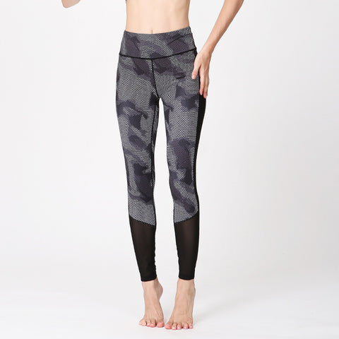 Yoga Sports Pants Outdoor Running Pants High Waist Digital Printing Yoga Pants