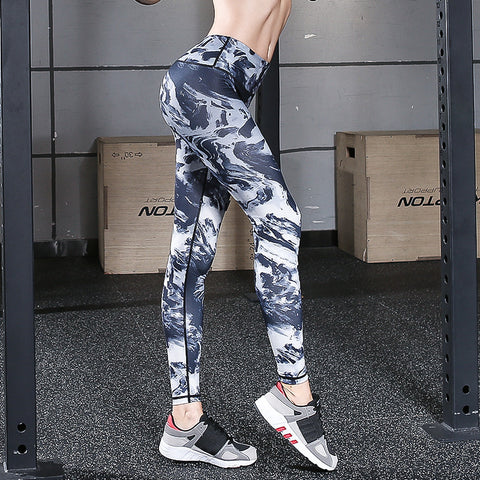 Digital Printed Yoga Pants Fitness Pants Stretch Tight Women's Trousers