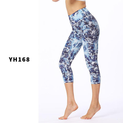 High Elasticity And Slim Fitness Printed Yoga Clothes