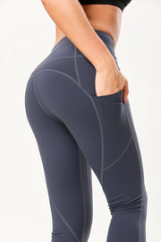 High Elastic Sweat Absorption Exercise Yoga Nine Pants