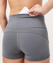 Double-sided Nude Sports Shorts Running Hip Yoga Shorts