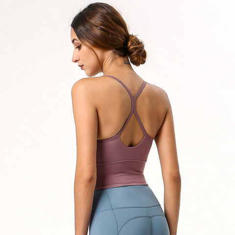 Summer And Autumn New Yoga Vest Yoga Running Sports Bra Fitness Beauty Back Sling Vest