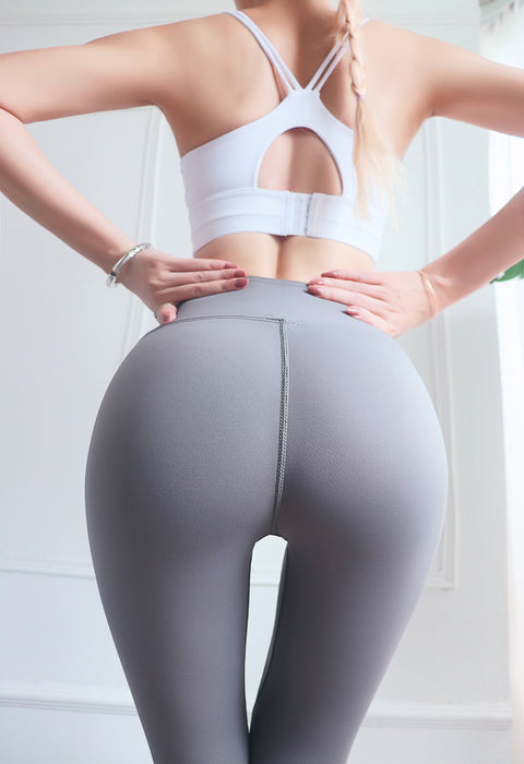 Nude Fitness Pants Seamless High Waist Peach Hip Sports Yoga Pants