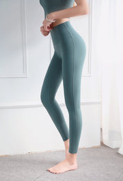 Double-sided Matte Nude Yoga Pants Hip Lifting High Waist Fitness Pants