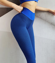 Seamless Peach Hip Fitness Yoga Pants High Waist Elastic Beautiful Hip Sports Tights