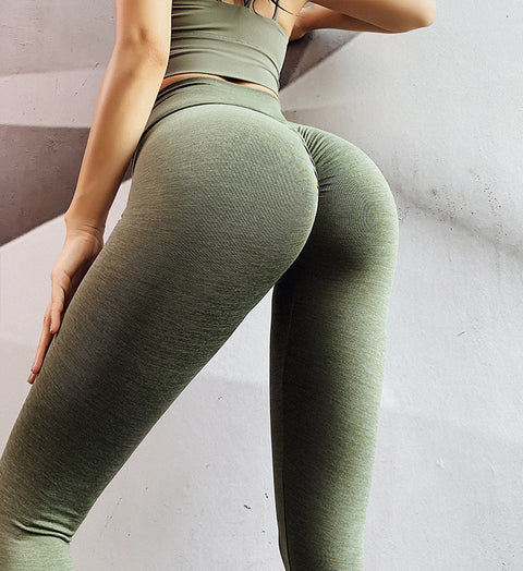 High Waist Seamless Belly Peach Hip Pants Women's Tight Elastic Training Hip Fitness Pants