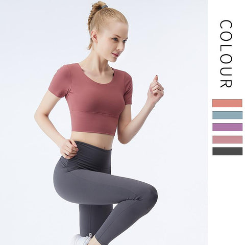 Elastic Slim Sports T-shirt