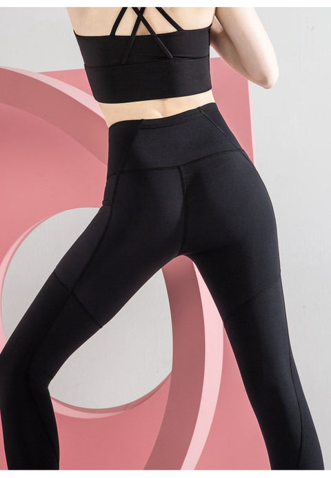 High Waist Lift Hip Fitness Nine-point Pants