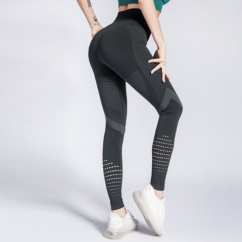 Seamless fitness pants women's high waist and buttock sports tights professional quick drying high elastic yoga pants