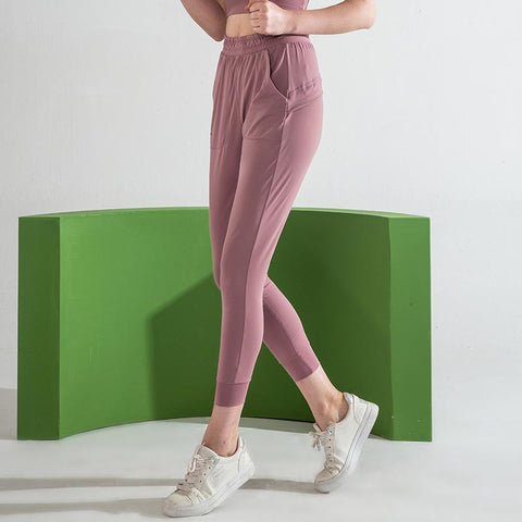 Loose Running High Elastic Fitness Pants