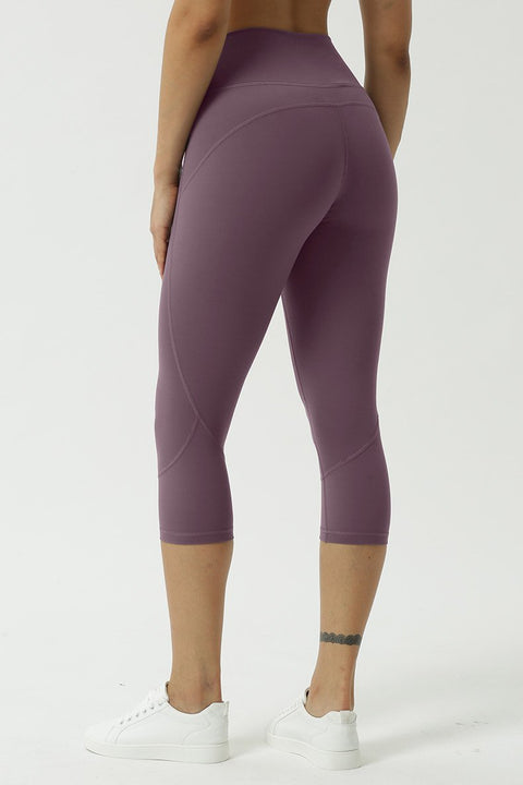 Double-sided Naked Yoga Cropped Trousers