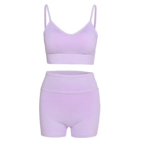 Sexy low chest and high waist sports fitness suit