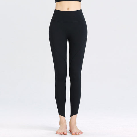 New Yoga Pants Women's High Elastic High Waist Sports Running Tight Workout Clothes