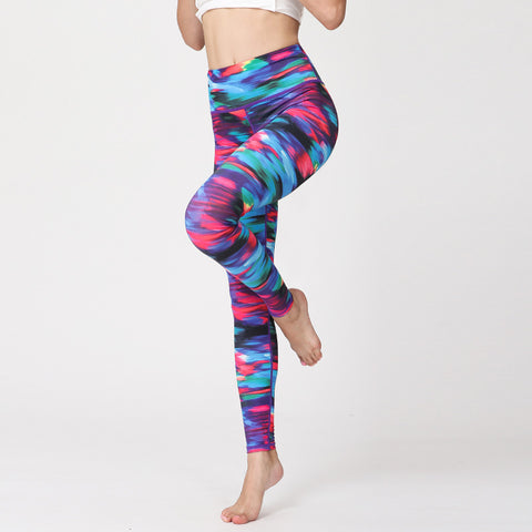 Digital Printing Fashion Sports Yoga Pants Running Fitness Trousers