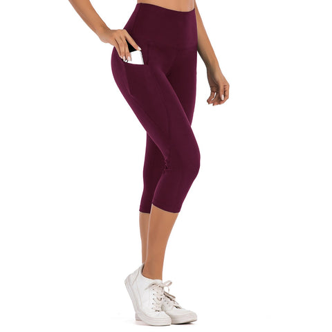 High Waist Yoga Seven-point Pants