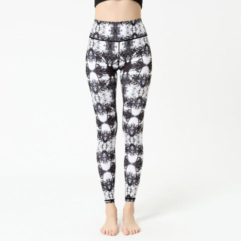Tight High-waisted Hip Body-building Exercise Printed Pants