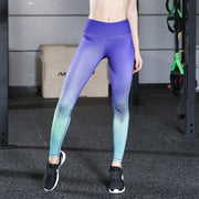 New sports yoga pants, women's trousers, digital printing, solid color, high-strength stretch
