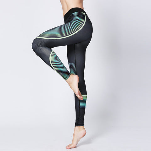 Fitness Pants Printed Yoga Pants Outdoor Running Women's Tights