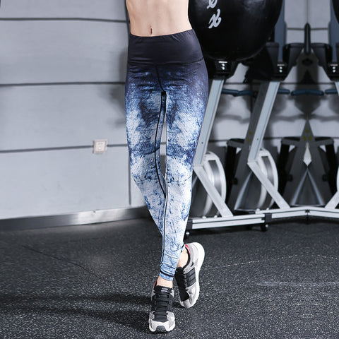 Outdoor Sports Camouflage Yoga Fitness Pants Printed Yoga Pants