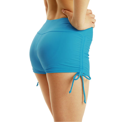 New style tight YOGA SHORTS fitness women's drawstring beach pants sports shorts