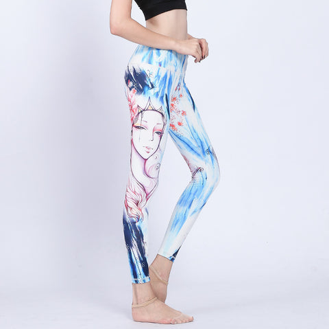 Crown Girl Digital Print Yoga Tights