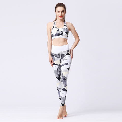 Yoga Clothing Fitness Two-piece Suit Printed Quick-drying Sports Tight Suit