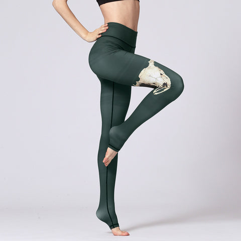 Yoga Fitness Pants Slim Printed Trousers Yoga Pants
