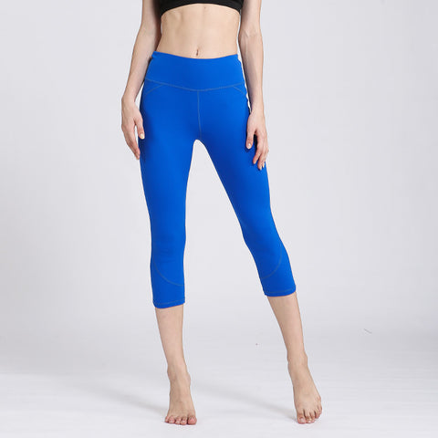 Yoga Quick-drying Fitness Yoga Pants High Waist Sports Stretch Pants Cropped Pants