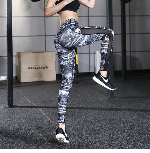 Women's Printed Leisure Sports Yoga Stretch Pants Fitness Pants