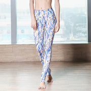 Printed Yoga Gym Pants Stretch Tight Women's Running Pants
