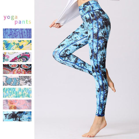 Quick Drying And Breathable Exercise printed Yoga Pants