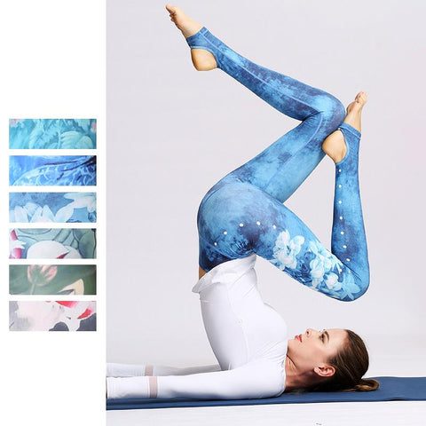 High Waist Outdoor Fitness Step Foot Yoga Pants