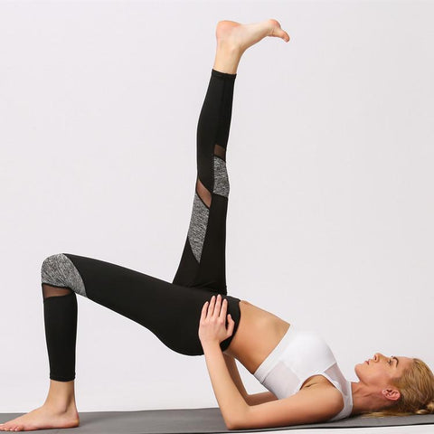 Mesh Stitching Quick-drying Breathable Leisure Yoga Fitness Trousers