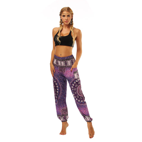 Seaside loose-legged casual pants fitness yoga pants exercise yoga lantern pants