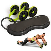 EnterSports Ab Roller Wheel, 6-in-1 Ab Roller Kit with Knee Pad, Resistance Bands, Pad Push Up Bars Handles Grips, Perfect Home Gym Equipment for Men Women Abdominal Exercise