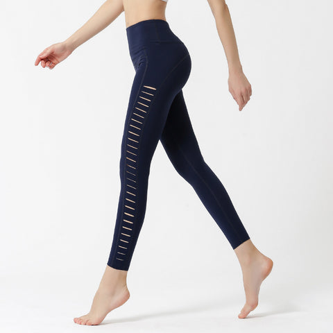 Sports Pants Quick-drying Laser-cut Fitness Clothes Running Yoga Trousers