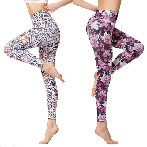Sports Fitness Dance Printed Yoga Pants