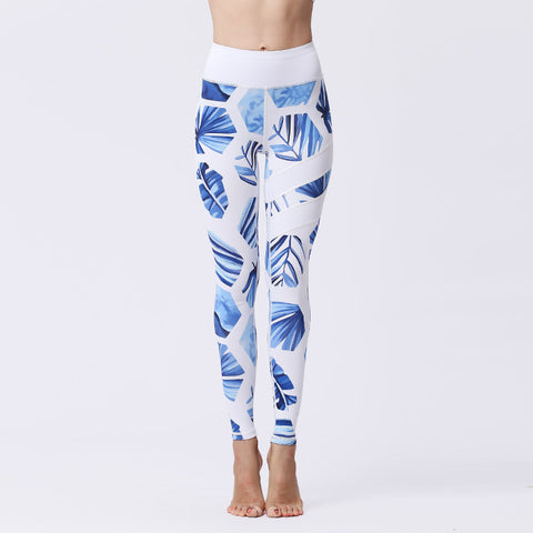 The new yoga pants fast dry bottom digital print pants sports tight fitness pants