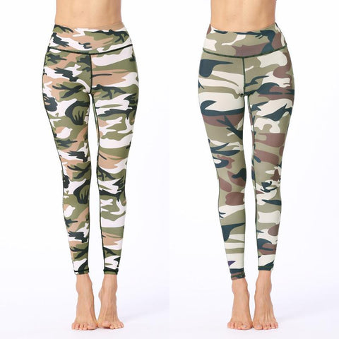 High Waist Hip Lifting Camouflage Sports Pants