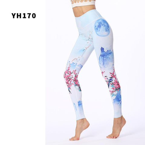 Stretch Exercise Printed Yoga Pants