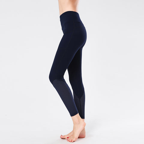 Sports Stitching Fitness Pants Hollow Yoga Pants