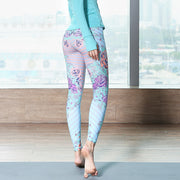Women's Printed Running Yoga Pants Sports Tights