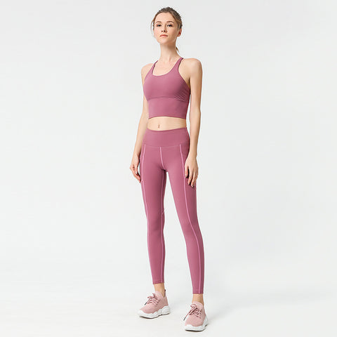 Sports Bra Yoga Pants Fitness Running Training Yoga Suit