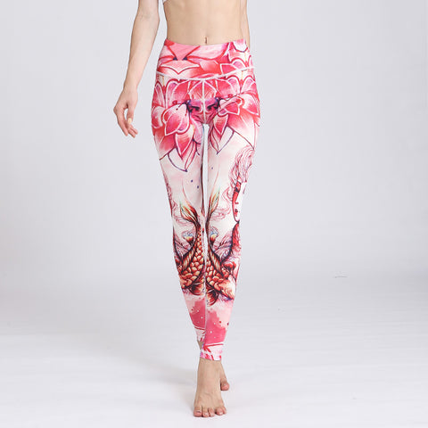 Printed Yoga Pants Tight Leggings Casual Sports Fitness Pants