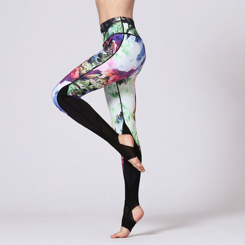 Quick-drying Sports Leggings Digital Printed Yoga Pants