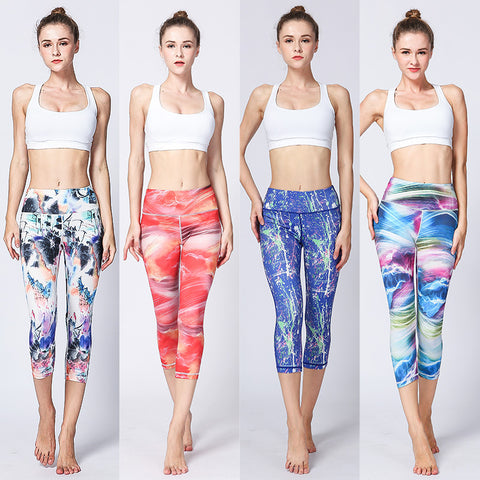Yoga Pants Printed Quick-drying Outdoor Fitness Running Sports Tights