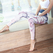 Women's Digital Sports Pants Casual Wild Professional Yoga Pants Printed Fitness Running Pants